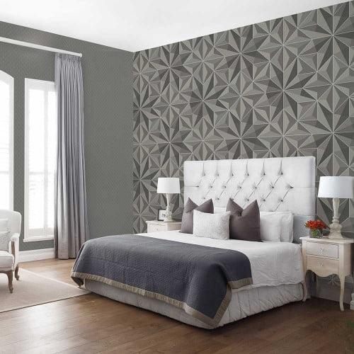 Điểm nhấn phòng ngủ với giấy dán tường 3D