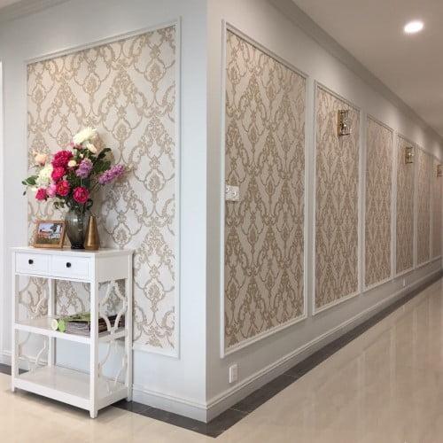 Giấy dán tường phong cách bán cổ điển sang trọng