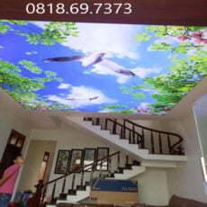 Tranh dán trần nhà mã 3