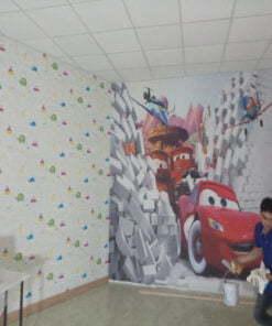 Thi công giấy dán tường trẻ em quận 11