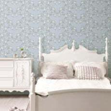 Giấy dán tường phong ngủ màu xanh