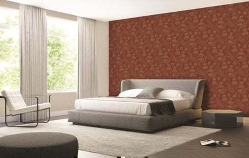 Giấy dán tường đầu giường màu đỏ