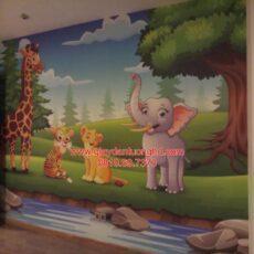 Công trình tranh dán tường trẻ em-17