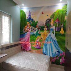 Công trình tranh dán tường trẻ em-2