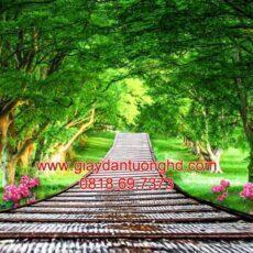 Mẫu tranh dán tường phong cảnh thiên nhiên-100
