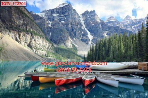 Mẫu tranh dán tường phong cảnh thiên nhiên-115