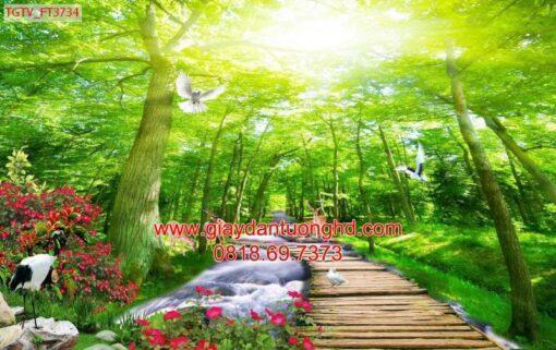Mẫu tranh dán tường phong cảnh thiên nhiên-132