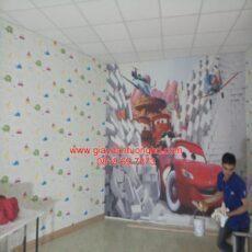 Thi công tranh dán tường trẻ em-3