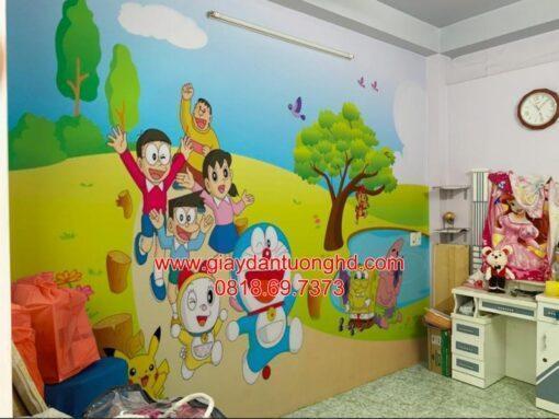 Thi công tranh dán tường trẻ em-58